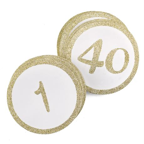 Gold Glitter Table Cards