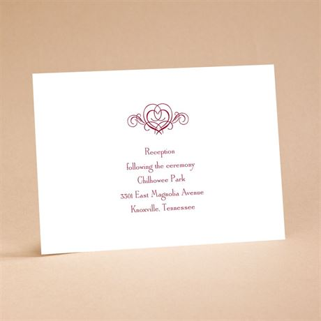 "It""s Up To You Reception Card"
