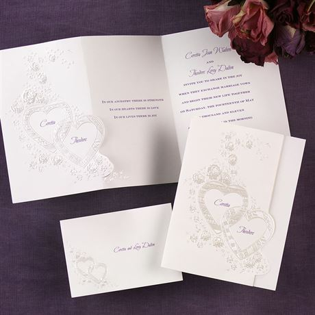Hearts and Roses Invitation