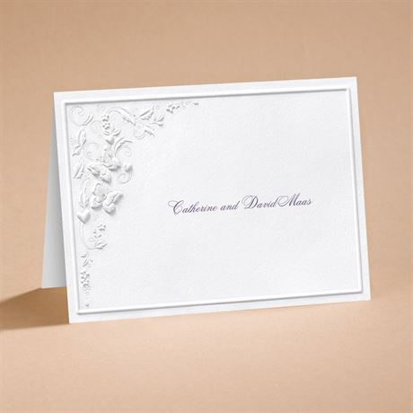 Romantic Butterflies Note Card and Envelope