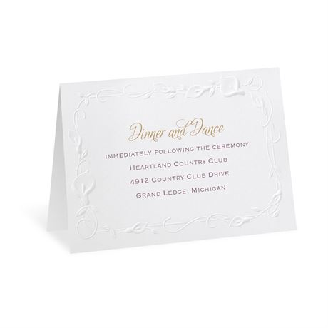 Beautiful Border Reception Card