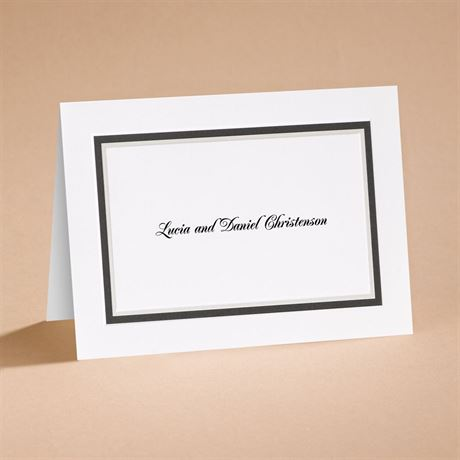 The Edge Black Note Card and Envelope