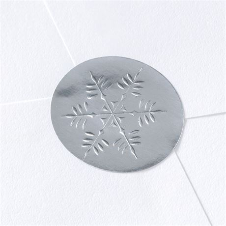 Blank Silver Snowflake Wedding Seal