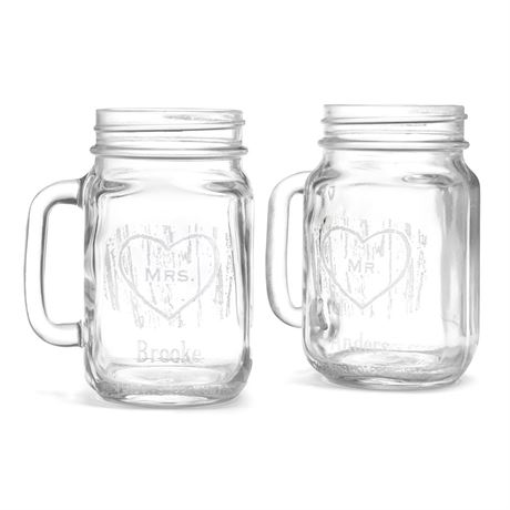Woodgrain Drinking Jar Set