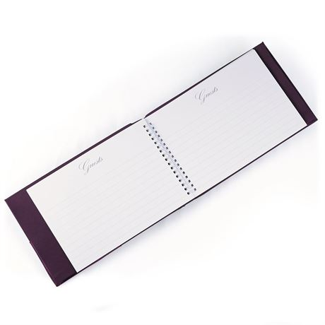 Regal Purple Guest Book and Pen