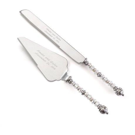 Sparkling Beads Knife and Server Set