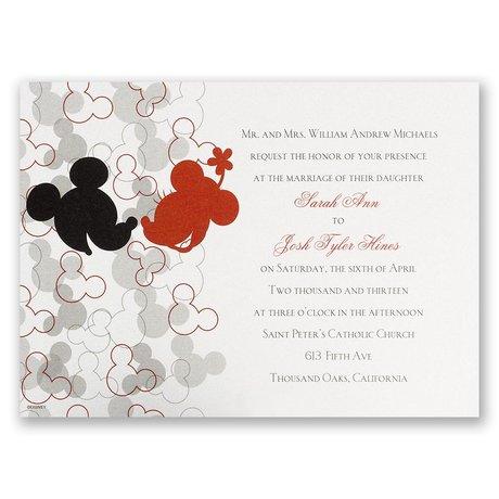 Disney Oh, Boy! Invitation Mickey Mouse