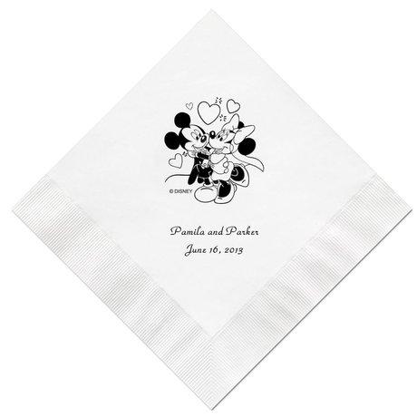 A Classic - Disney White Dinner Napkin in Foil