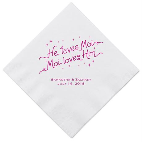 "Disney - ""He Loves Moi"" Dinner Napkin - Miss Piggy"