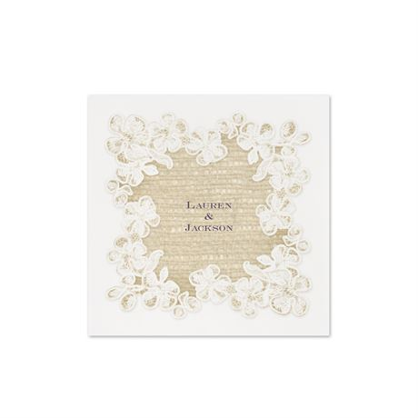 Lace Finish - Cocktail Napkin