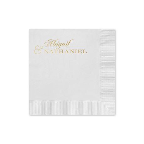 Beautiful Names - White - Foil Cocktail Napkin