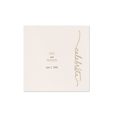 Pure Sophistication - Ecru Cocktail Napkin