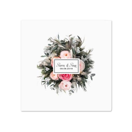 Ethereal Garden - White - Dinner Napkin