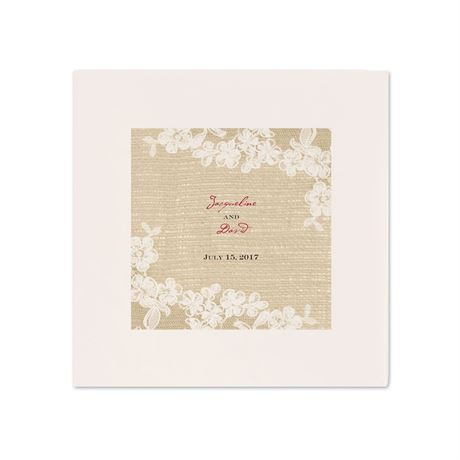 Burlap and Lace - Ecru Dinner Napkin