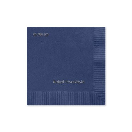 Simple Details - Navy - Foil Cocktail Napkin