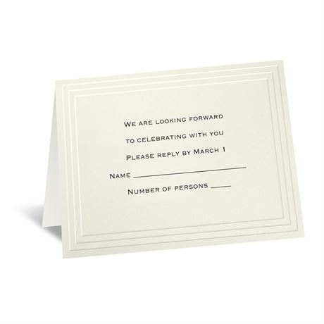 Timeless - Ecru Response Card and Envelope