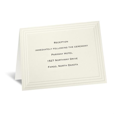 Timeless - Ecru Reception Card