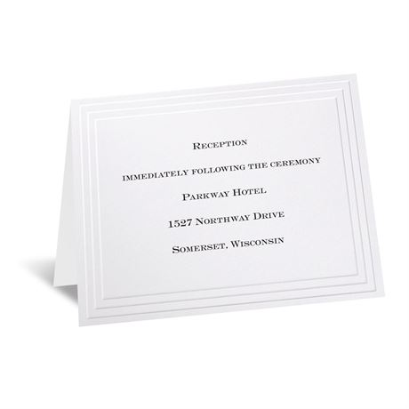 Timeless White Reception Card