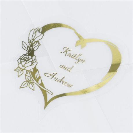Personalized Gold Heart Seal
