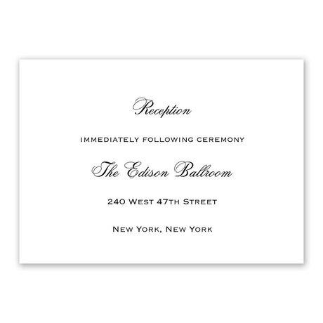 White Reception Card