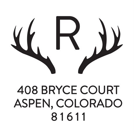 Antlers Address Stamp