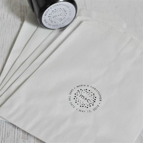 Polka Dots Custom Stamp