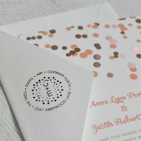 Polka Dots Address Stamp