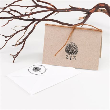 Love Tree Custom Stamp