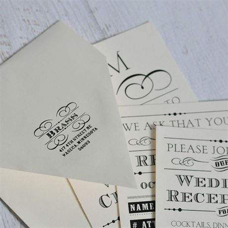 Flourish Frame Address Stamp