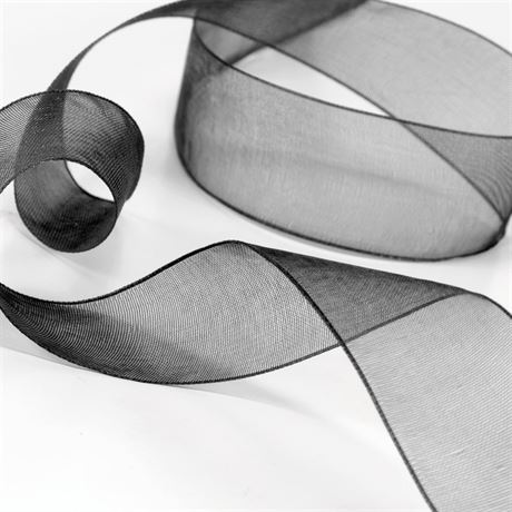 Sheer Ribbon - Pre-Cut - Black