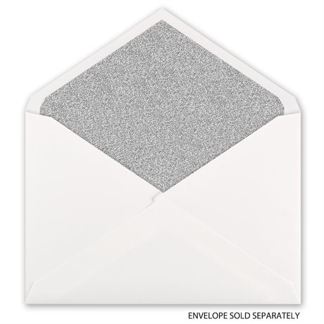 Silver Glitter - Envelope Liner