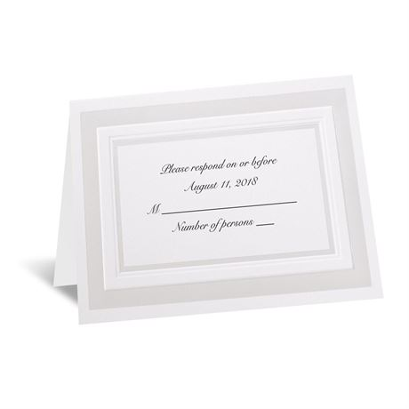 Satin Touch Respond Card and Envelope