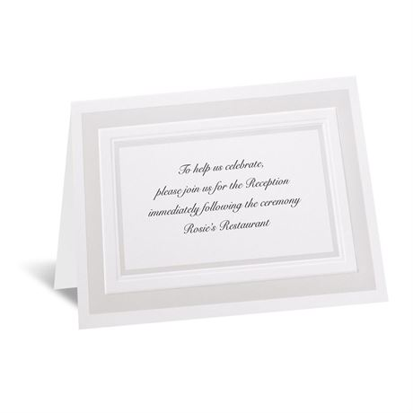 Satin Touch Reception Card
