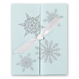 Tiffany Blue Wedding Invitations: Winter Wonders Invitation