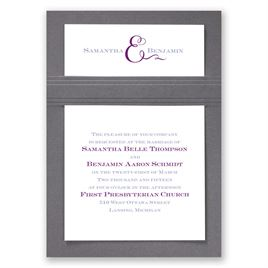 Two of Us - Pewter - Layered Invitation