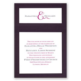 Two of Us - Eggplant - Layered Invitation