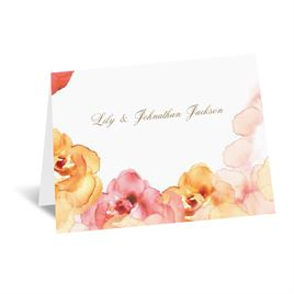 Watercolor Roses - Yellow - Thank You Card and Envelope