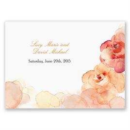 Watercolor Roses - Yellow - Response Postcard