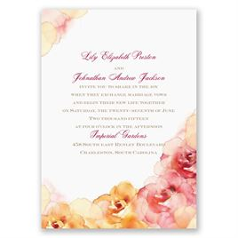 Watercolor Roses - Yellow - Invitation