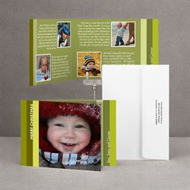 Bold Stripes - Green Storyline Photo Holiday Card