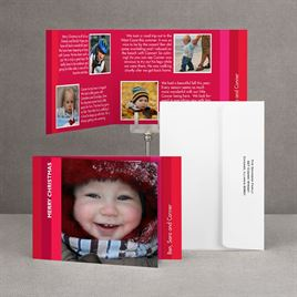 Bold Stripes - Red Storyline Photo Holiday Card