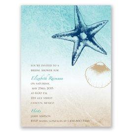 Beach Romance - Champagne - Petite Bridal Shower Invitation