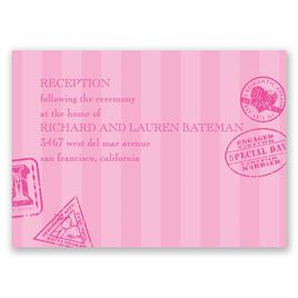 Passport to Romance - Reception Card