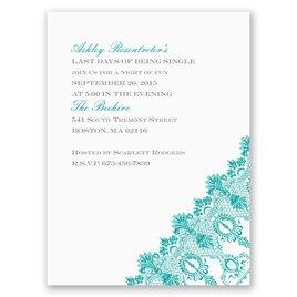 Romantic Lace - White - Bachelorette Party Invitation