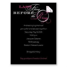 Last Fling - Pink - Bachelorette Party Invitation