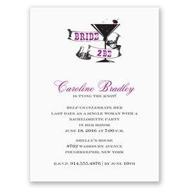 Cocktail - Purple - Bachelorette Party Invitation
