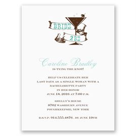 Cocktail - Aqua - Bachelorette Party Invitation