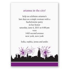 City Girl - Purple - Bachelorette Party Invitation