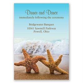 Starfish - Reception Card