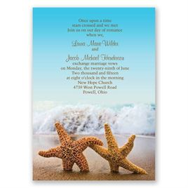 High Quality Beach Wedding Invitations: Starfish Invitation